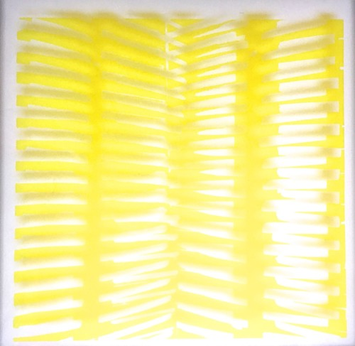Kim Lim (1936 - 1997) Yellow Screenprint omn acetate Signed and dated '72 Edition 1/15 38 x 38cm £1200 £500t