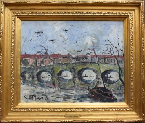 Drones Over The Seine Riot Couture,  and Paul Maze Oil on canvas