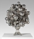 1.Japanese Snowball   Dimensions: 73 x 58 x 58cm Medium: Silver, nickel, and steel plated spoons £18,000.00