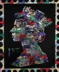 Pearly Queen of Connaught Square Dimensions: 140 x 170cm Medium: Buttons hand sewn on canvas £13,400.00