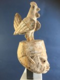 pa90 Yoruba Gelede Helmet MAsk- Nigeria Carved wood with pigment 523 x 19 x 37cm £380