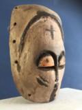 pa75 Bini Mask - Benin Polychromed wood 25 x 15 x 9cm £255
