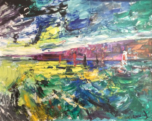 Yachts at Torquay Oil on board 40 x 51cm Signed bottom right Paid £500 Sell £1,200
